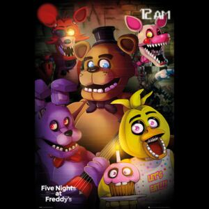 Poster Five Nights At Freddys - Group, (61 x 91.5 cm)