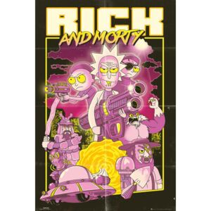 Poster Rick and Morty - Action Movie, (61 x 91.5 cm)