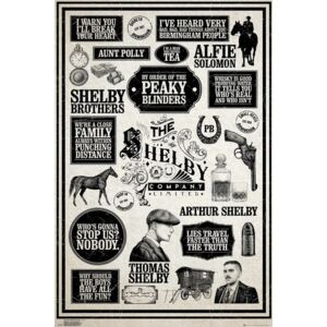 Poster Peaky Blinders - Infographic, (61 x 91.5 cm)