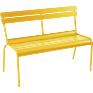 Luxembourg Bench with backrest by Fermob Yellow