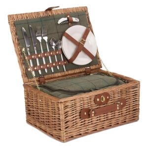 Willow Premium FH068 2 Person Green Tweed Hamper FH068