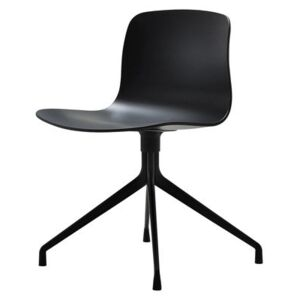 About a chair Swivel chair - 4 legs by Hay Black