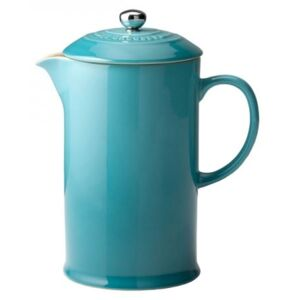 Le Creuset Stoneware Cafetiere With Metal Press Teal