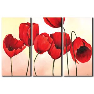 Canvas Print Tulips: Red dream