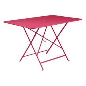 Bistro Foldable table - / 117 x 77 cm - 6 people - Parasol hole by Fermob Pink