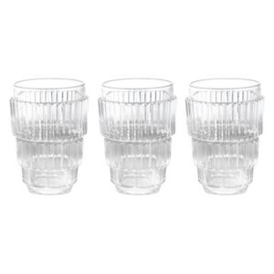 Machine Collection Glass - / Set of 3 - H 13 cm by Diesel living with Seletti Transparent