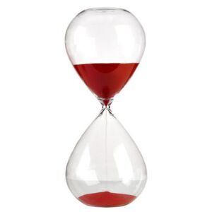 Ball Large Egg timer - / 2 hours - H 38 cm by Pols Potten Red/Transparent