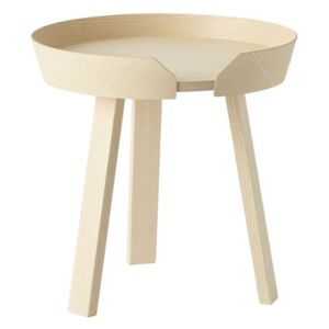 Around Coffee table - Around - Table basse - Small Ø 45 x H 46 cm by Muuto Natural wood