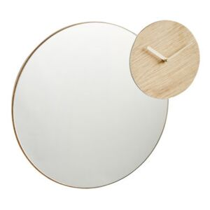 Timewatch Mirror - Clock - Ø 45 cm by Woud Natural wood