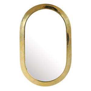 Medina Oval Wall mirror - / 19 x 30 cm by & klevering Gold/Metal