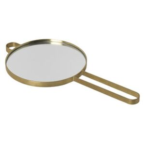 Poise Hand mirror - / Brass by Ferm Living Gold/Metal