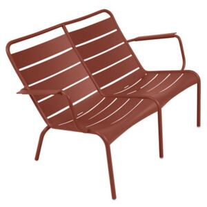 Luxembourg Duo Bench with backrest - / 2 seats - L 119 cm by Fermob Red/Brown