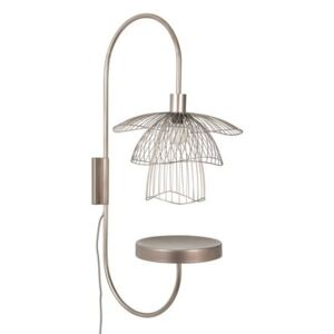 Papillon Wall light - / H 75 cm - Tablette by Forestier Pink