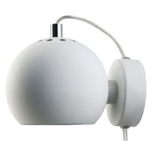 Ball Wall light with plug by Frandsen White