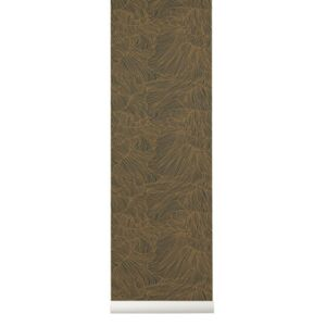Coral Wallpaper - / 1 roll - Width 53 cm by Ferm Living Green/Gold