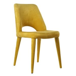 Holy Padded chair - / Velvet by Pols Potten Yellow