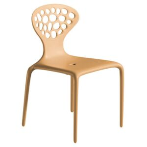 Supernatural Stacking chair by Moroso Brown/Beige