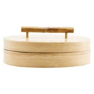 Bamboo Box - / Ø 20 x H 6 cm by House Doctor Natural wood