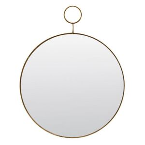 The loop Wall mirror - / Brass - Ø 32 cm by House Doctor Gold/Mirror/Metal
