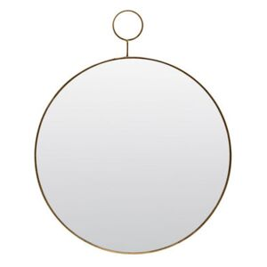 The Loop Round Wall mirror - / Brass - Ø 38 cm by House Doctor Gold/Mirror/Metal