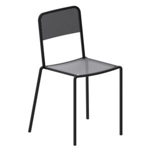 Ginger Stacking chair - / Micaceous grey by Zeus Grey