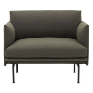 Outline Padded armchair - / Fabric by Muuto Green