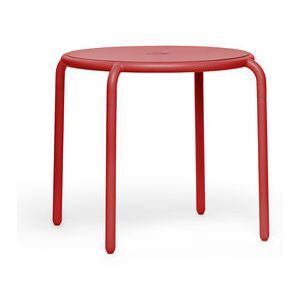 Toní Bistreau Round table - / Ø 80 cm - Hole for parasol + removable candle holder by Fatboy Red