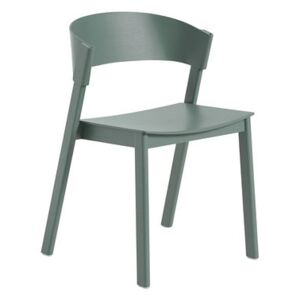 Cover Stacking chair - / Wood by Muuto Green