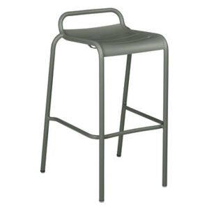 Luxembourg High stool - / Aluminium - H 78 cm by Fermob Green
