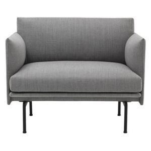 Outline Padded armchair - / Fabric by Muuto Grey