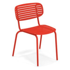 Mom Stacking chair - / Metal by Emu Red