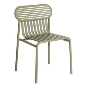 Week-End Stacking chair - / Aluminium by Petite Friture Green