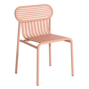 Week-End Stacking chair - / Aluminium by Petite Friture Pink