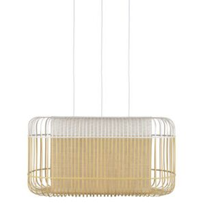 Bamboo Oval Pendant - / XL - 78 x 45 x H 40 cm by Forestier White/Natural wood