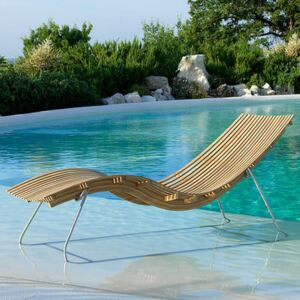 Swing Sun lounger - / With steel support by Unopiu Natural wood