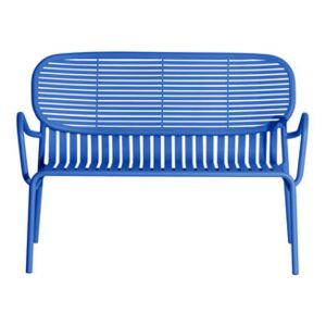 Week-End Bench - / Aluminium - W 114 cm by Petite Friture Blue
