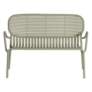 Week-End Bench - / Aluminium - W 114 cm by Petite Friture Green