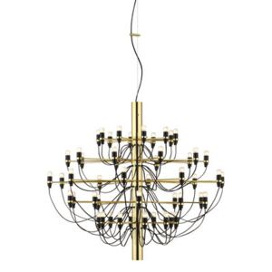 2097 Pendant - / 50 frosted bulbs INCLUDED - Ø 100 cm by Flos Gold/Metal