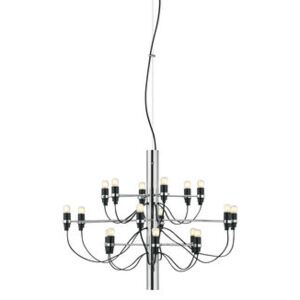 2097 Pendant - / 18 frosted bulbs INCLUDED - Ø 69 cm by Flos Grey/Silver/Metal