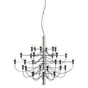2097 Pendant - / 30 frosted bulbs INCLUDED - Ø 88 cm by Flos Grey/Silver/Metal