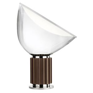 Taccia LED Small Table lamp - Glass diffusor - H 48 cm by Flos Brown/Transparent