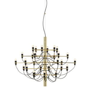 2097 Pendant - / 30 frosted bulbs INCLUDED - Ø 88 cm by Flos Gold/Metal