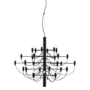 2097 Pendant - / 30 frosted bulbs INCLUDED - Ø 88 cm by Flos Black