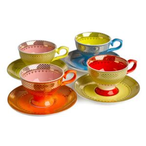 Grandma Espresso cup - / Set of 4 - With saucers by Pols Potten Multicoloured