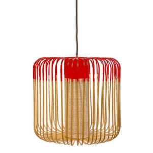 Bamboo Light M Pendant - H 40 x Ø 45 cm by Forestier Red/Natural wood