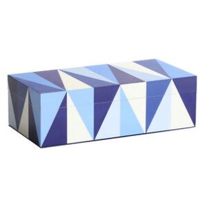 Sorrento Small Box - / Lacquered wood - 20 x 10 cm by Jonathan Adler Blue