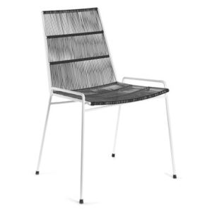 Abaco Stacking chair - / PVC wire by Serax Black