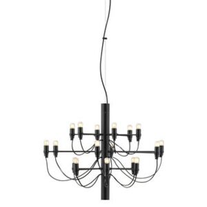 2097 Pendant - / 18 frosted bulbs INCLUDED - Ø 69 cm by Flos Black