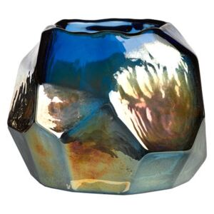 Graphic luster Candle holder - Ø 12 cm by Pols Potten Blue