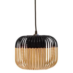 Bamboo Light XS Pendant - H 20 x Ø 27 cm by Forestier Black/Natural wood